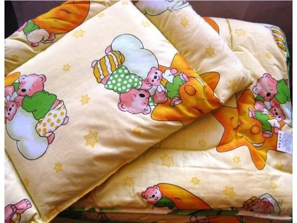Комплект Малыш (одеяло 140*110, верх - бязь; наполнитель - халофайбер - 1 шт.; подушка детская 38*58, верх - бязь; наполнитель -  гипоаллергенное полиэфирное волокно - 1 шт.)