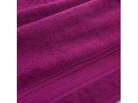 Полотенце махровое с бордюром Яркая фуксия