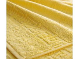 Полотенце махровое с бордюром Желтое