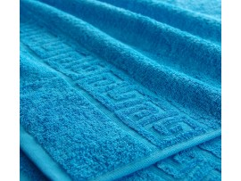 Полотенце махровое с бордюром Голубое