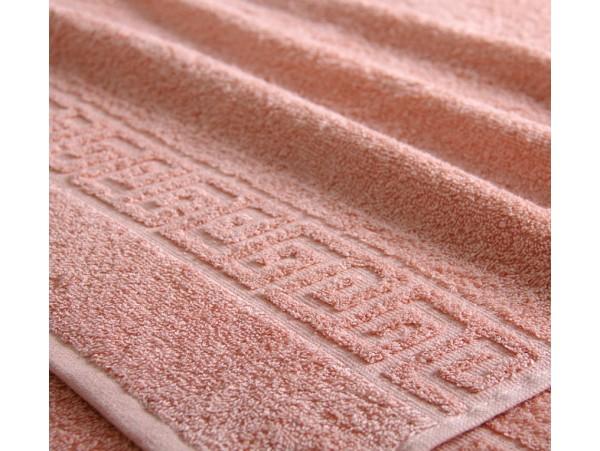 Полотенце махровое с бордюром Кремовое