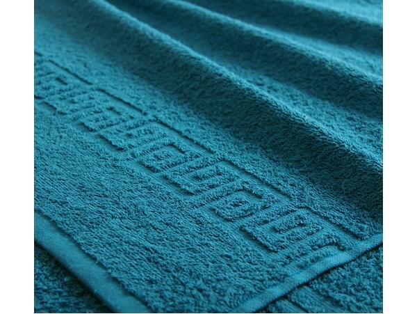 Полотенце махровое с бордюром Морская волна