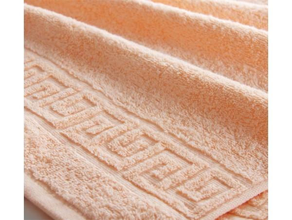 Полотенце махровое с бордюром Персик