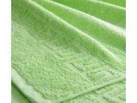 Полотенце махровое с бордюром Салатовое