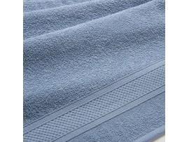 Полотенце махровое с бордюром Серо-голубое