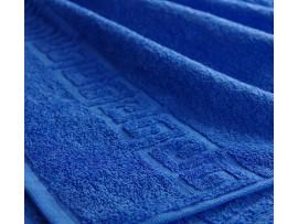 Полотенце махровое с бордюром Синее