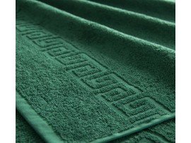Полотенце махровое с бордюром Тёмно-зелёное